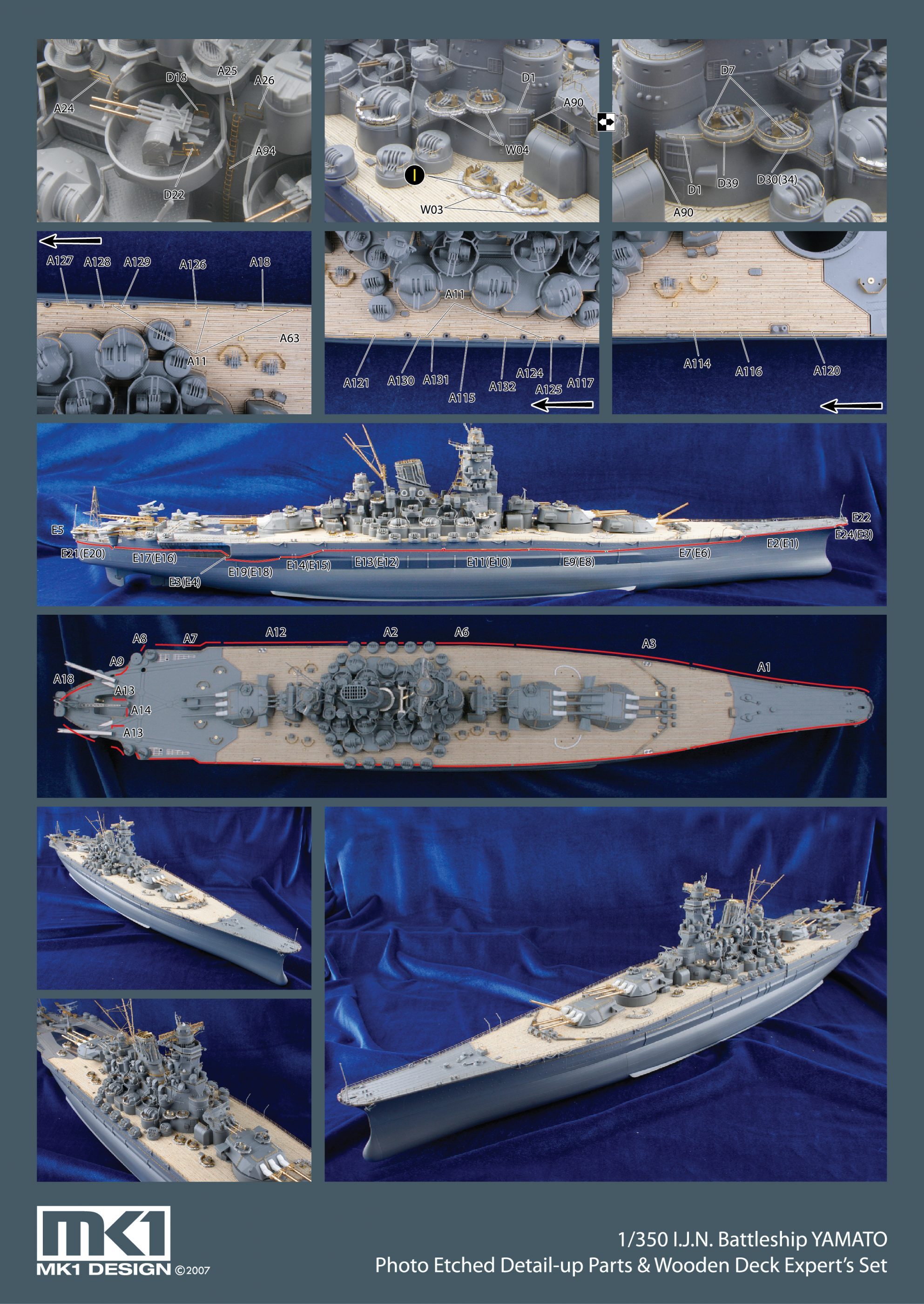 1/350 New Yamato Super Detail-up DX Pack